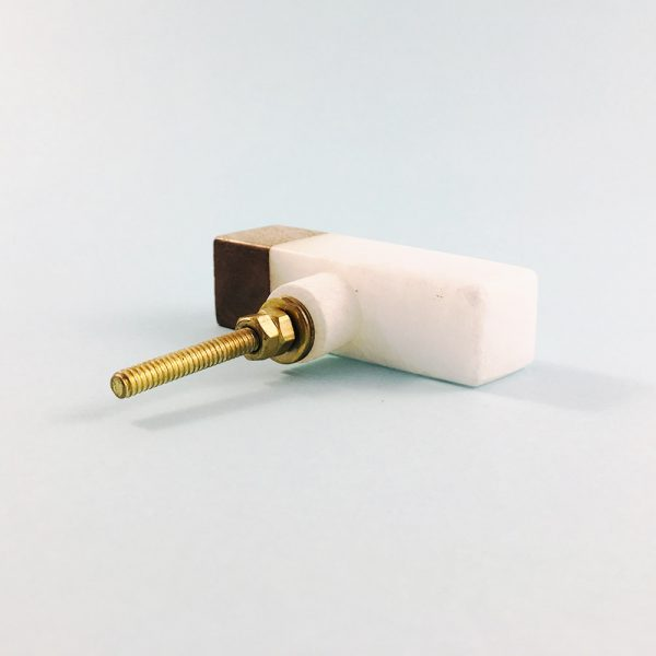 white marble and wood tipped tpull 9 600x600 - White Marble and Wood Tip Pull Bar