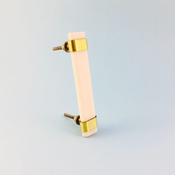 white resin and brass handle 4 600x600 - Creamy White Resin and Brass Handle