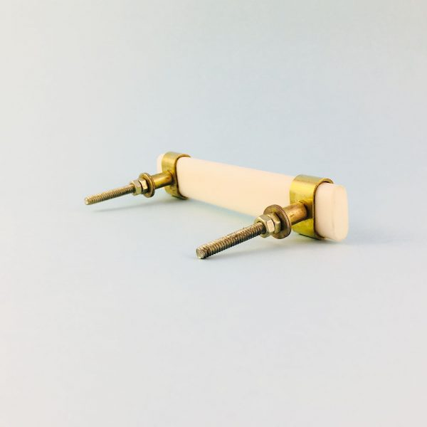 white resin and brass handle 8 600x600 - Creamy White Resin and Brass Handle