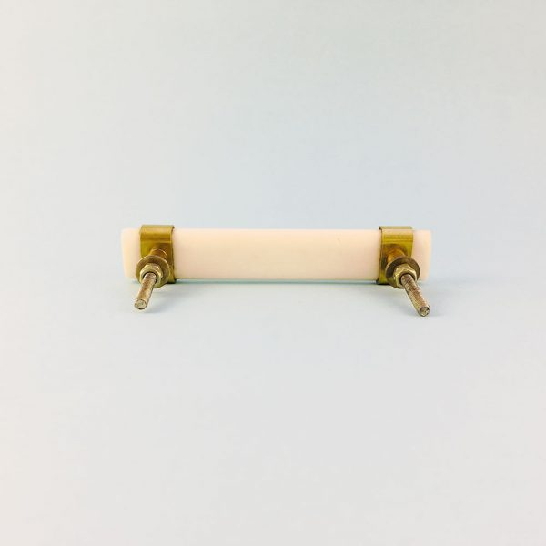 white resin and brass handle 9 600x600 - Creamy White Resin and Brass Handle