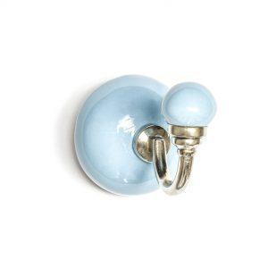 Light Blue Ceramic Wall Hook