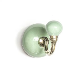 Sage Green Ceramic Wall Hook