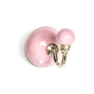 Pink Ceramic Wall Hook