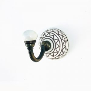 Light Blue Ceramic Wall Hook