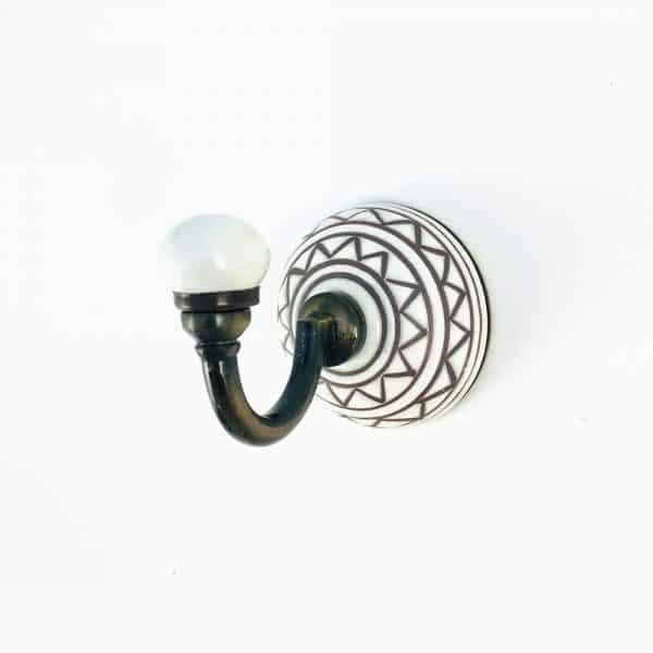 aztec ceramic wall hook 2 600x600 - Aztec Design Wall Hook