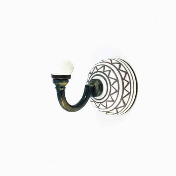 aztec ceramic wall hook 3 600x600 - Aztec Design Wall Hook