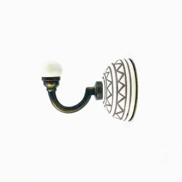 aztec ceramic wall hook 4 600x600 - Aztec Design Wall Hook