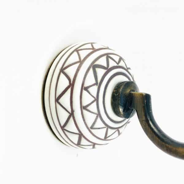 aztec ceramic wall hook 5 600x600 - Aztec Design Wall Hook