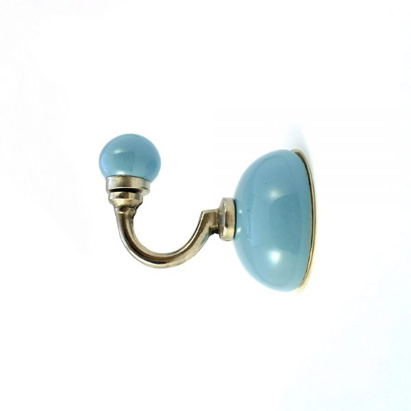 blue ceramic wall hook 3 600x600 - Light Blue Ceramic Wall Hook