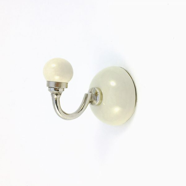 Ivory Ceramic Wall Hook
