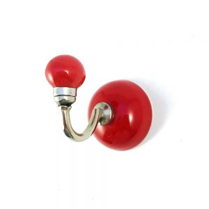 Red Ceramic Wall Hook