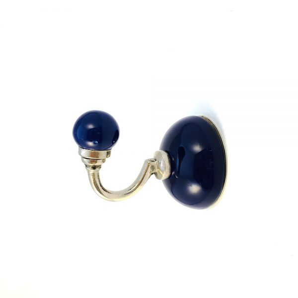 royal blue ceramic wall hook 3 600x600 - Royal Blue Ceramic Wall Hook