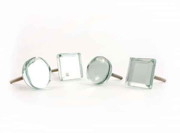 Mirrored Circle Glass Knob