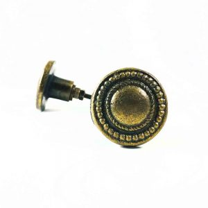 antique gold vintage button knob 1 300x300 - Antique Gold Vintage Button Knob