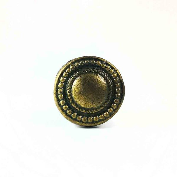 Antique Gold Vintage Button Knob