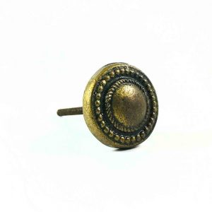 antique gold vintage button knob 4 300x300 - Antique Gold Vintage Button Knob