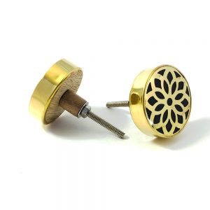 gold flower outline knob 3 300x300 - Gold Flower Outline Knob