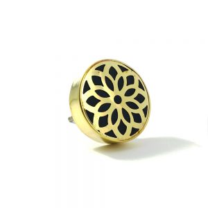 Gold Flower Outline Knob