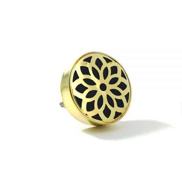 gold flower outline knob 4 600x600 - Gold Flower Outline Knob