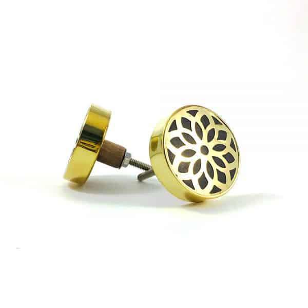 gold flower outline knob 600x600 - Gold Flower Outline Knob