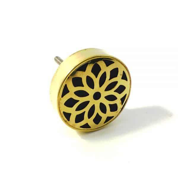 gold flower outline knob 8 600x600 - Gold Flower Outline Knob
