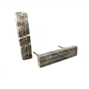 Grey Marble handle with brass lines 1 300x300 - Grey Marble and Brass Lined Handle
