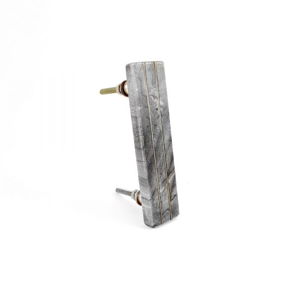 Grey Marble handle with brass lines 4 600x600 - Grey Marble and Brass Lined Handle