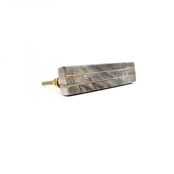 Grey Marble handle with brass lines 5 600x600 - Grey Marble and Brass Lined Handle