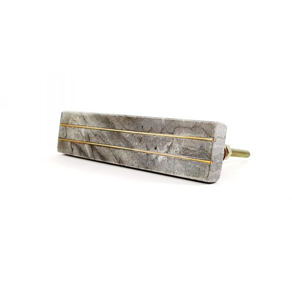 Grey Marble handle with brass lines 9 600x600 - Grey Marble and Brass Lined Handle