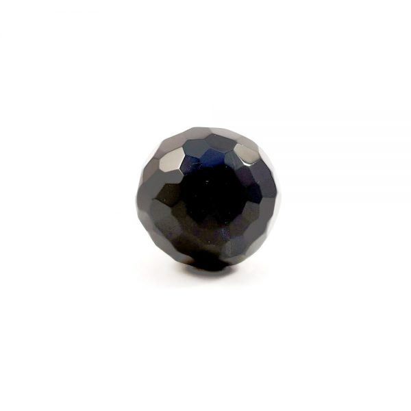 Black Glass Geodesic Knob