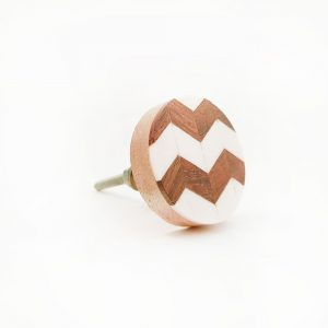 chevron wood and resin knob 5 300x300 - Round Chevron Inlay Knob