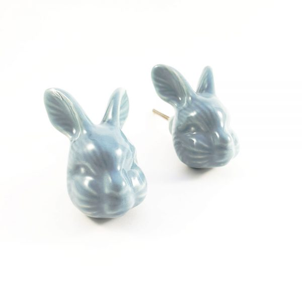 large rabbit ceramic knob 1 600x600 - Large Rex Rabbit Knob