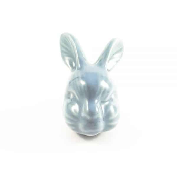 large rabbit ceramic knob 8 600x600 - Large Rex Rabbit Knob