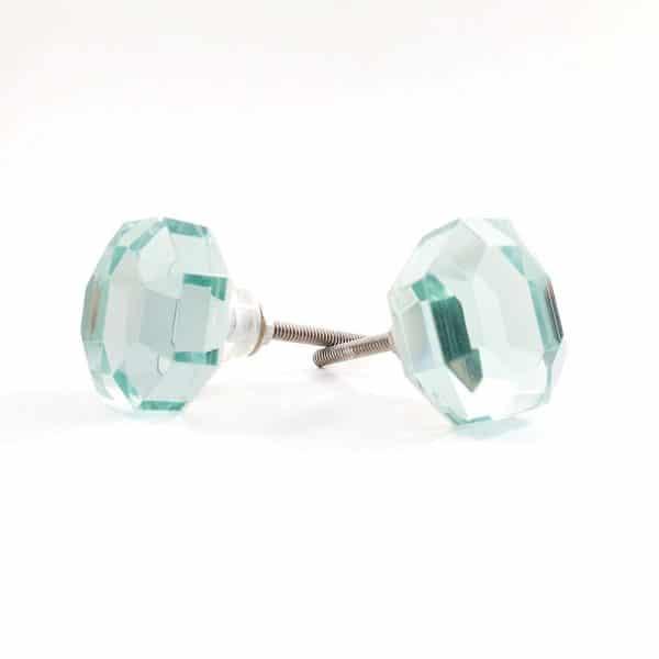 mirrored glass knob 3 600x600 - Mirrored Octagon Glass Knob