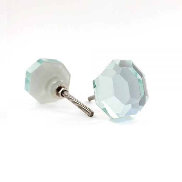 mirrored glass knob 5 600x600 - Mirrored Octagon Glass Knob