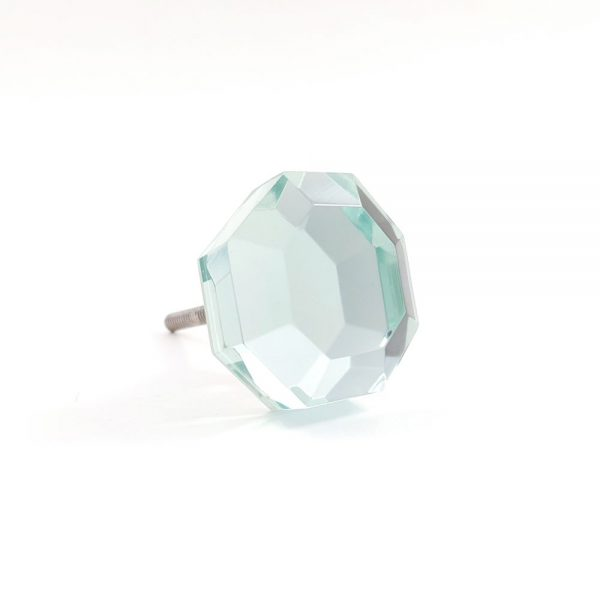 mirrored glass knob 6 600x600 - Mirrored Octagon Glass Knob