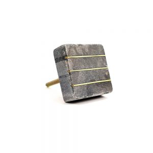square grey marble and brass line detail knob 5 300x300 - Marble and Brass Lined Knob
