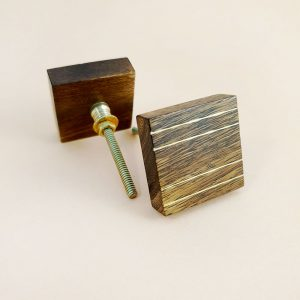 square wood and brass line detail knob 4 300x300 - Square Wood and Brass Lined Knob