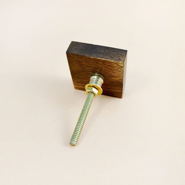 square wood and brass line detail knob 7 600x600 - Square Wood and Brass Lined Knob