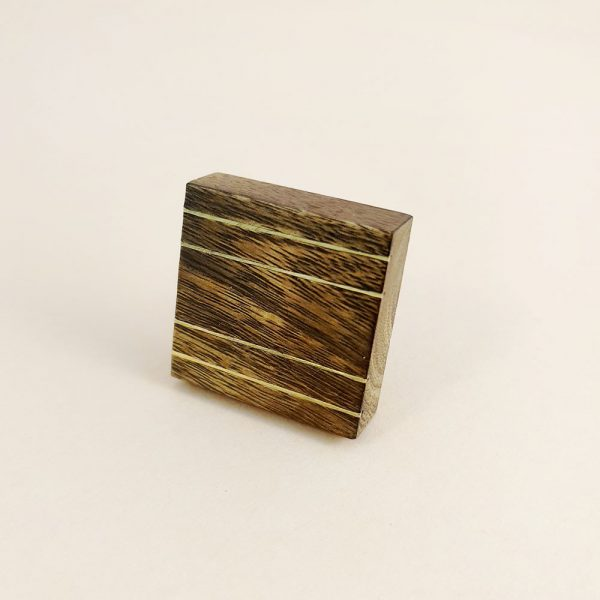 square wood and brass line detail knob 9 600x600 - Square Wood and Brass Lined Knob