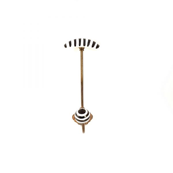 Black and White hat and coat wall hook 8 600x600 - Striped Traditional Hat and Coat Hook