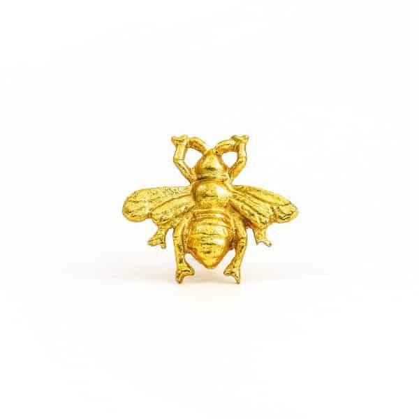 Brass Gold Bee Knob