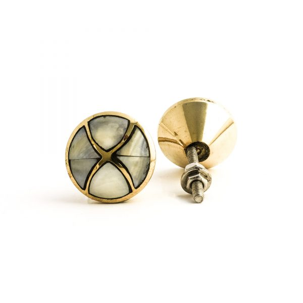 Gold and Pearl Infinity Knob