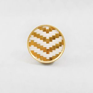 White and gold basket weave knob 4 300x300 - White and Gold Basket Weave Knob