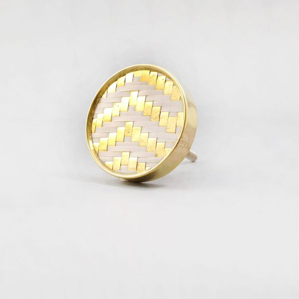White and gold basket weave knob 8 600x600 - White and Gold Basket Weave Knob