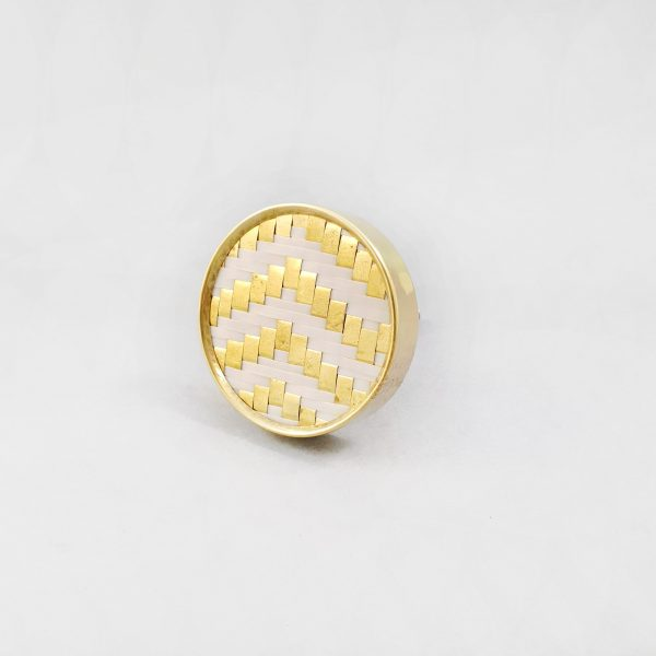 White and gold basket weave knob 9 600x600 - White and Gold Basket Weave Knob