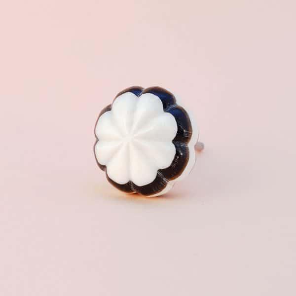 Black and white bloom knob 11 600x600 - Black and White Bloom Knob