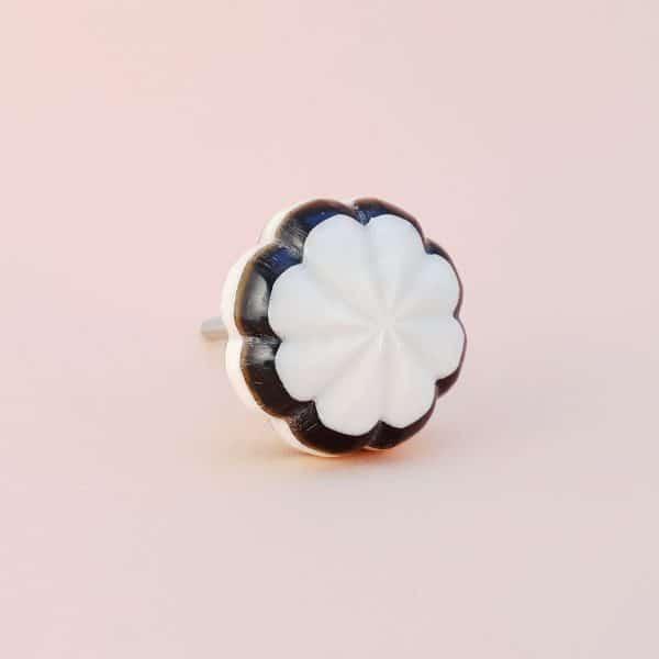 Black and white bloom knob 9 600x600 - Black and White Bloom Knob