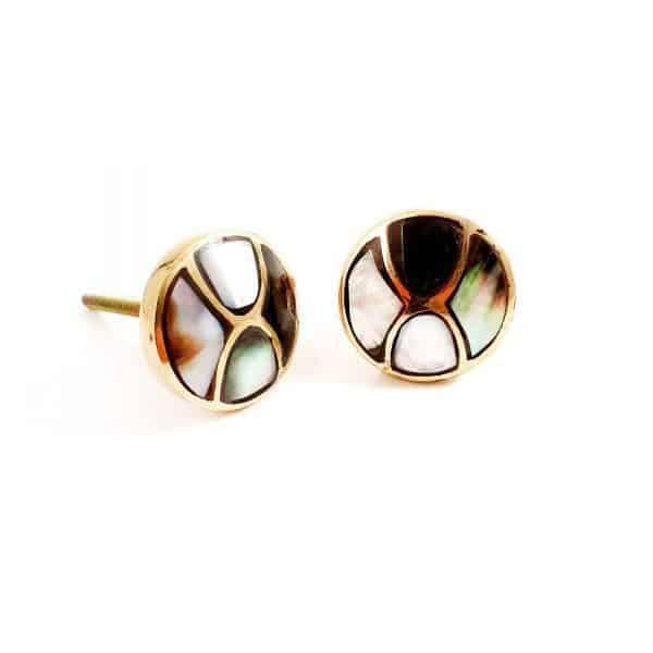 Black shell infinity knob 1 600x600 - Gold and Black Shell Infinity Knob