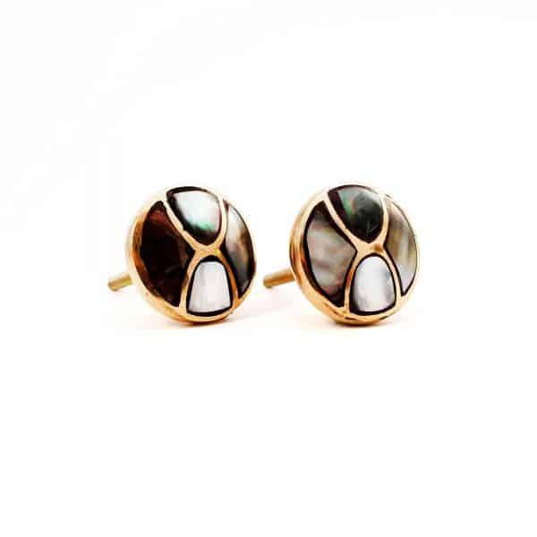 Black shell infinity knob 3 600x600 - Gold and Black Shell Infinity Knob